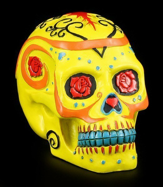 Yellow Skull - Day Of The Dead