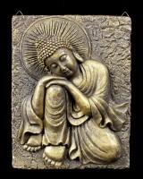 Golden Buddha Wall Plaque