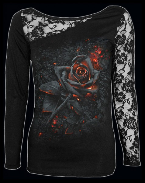 Burnt Rose - Spiral Gothic Lace Longsleeve