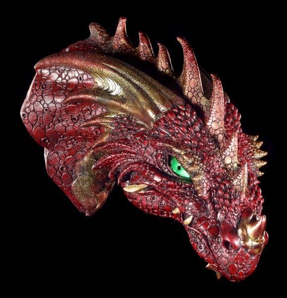 Drachen Schädel - Rageon's Kopf mit LED Augen
