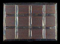 Mittelalterliche Holz Truhe - mit Beschlägen in Kassettenform