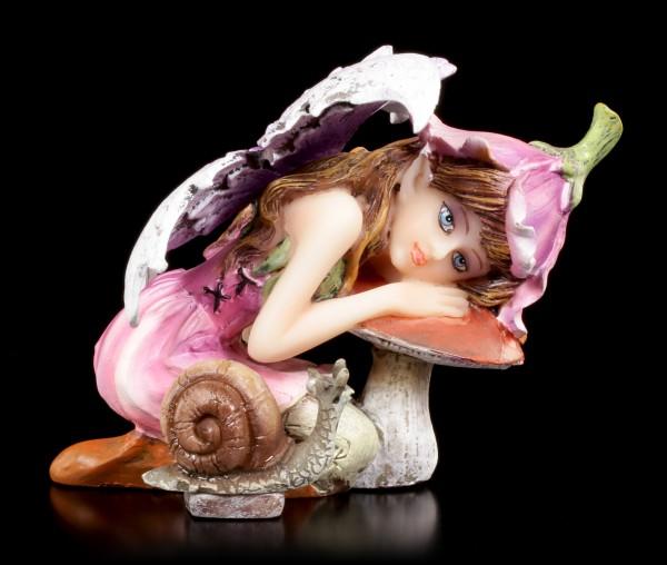 Kleine Elfen Figur - Alari mit Schnecke