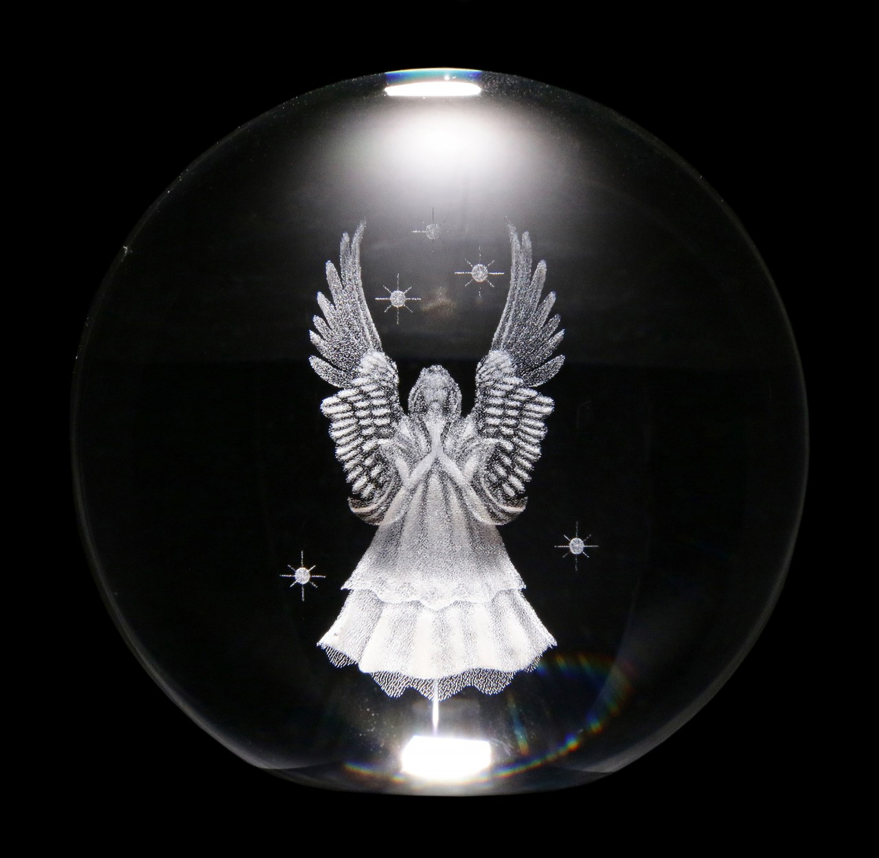 Wahrsager Kugel mit Engel - 8 cm