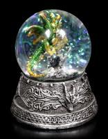 Snow Globe with Dragon - Enchanted Emerald