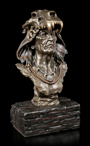 Large Native Indian Bust - Achak