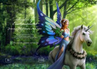 Greeting Card Unicorn & Fairy - Realm Of Enchantment