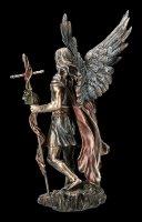 Archangel St. Gabriel Figurine with Staff and Trumpet