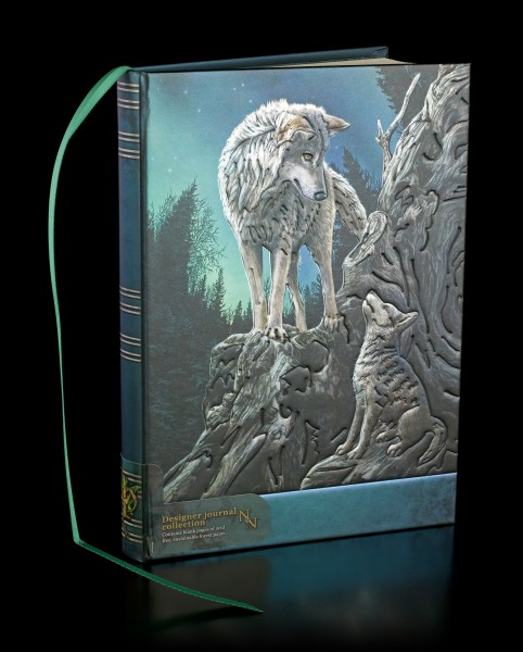 Hardcover Journal with Wolves - Guidance
