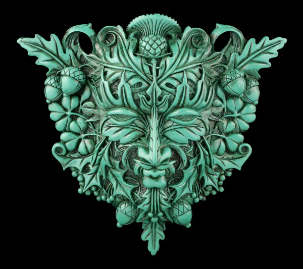 Celtic Forest Spirit Wall Plaque - Greenman