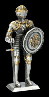 Pewter Knight Figurine with Round Shield