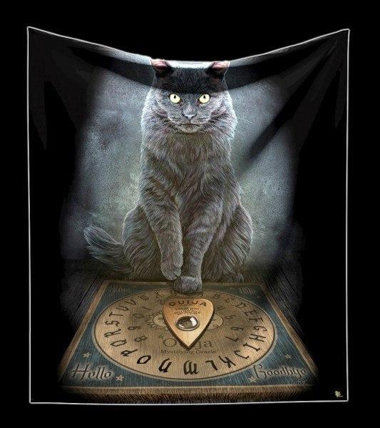 Kuschelige Decke mit Katze - His Master's Voice