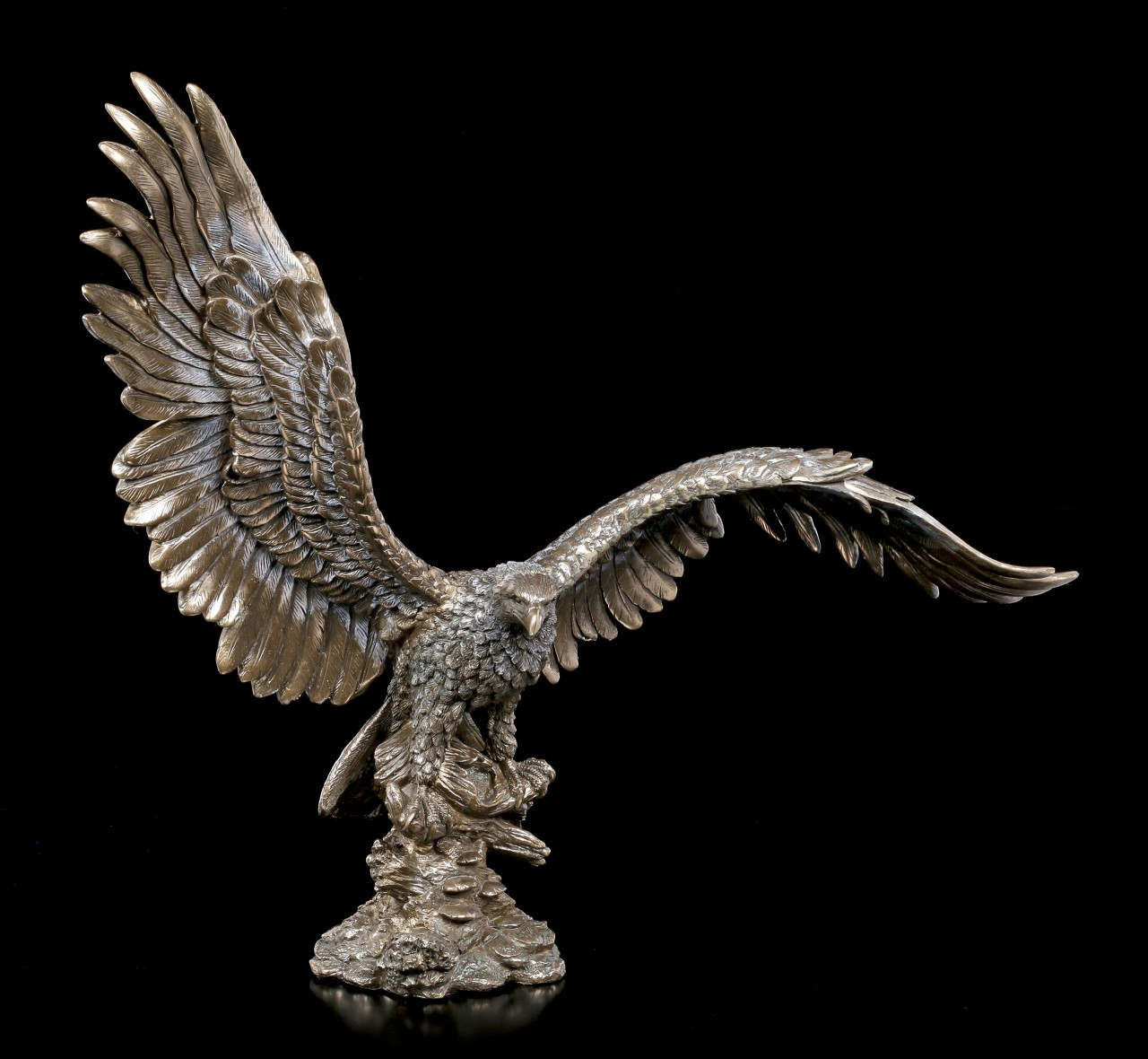 Eagle Figurine with Spreading Wings - bronzed