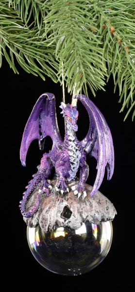 Christmas Tree Decorations - Hoarfrost purple