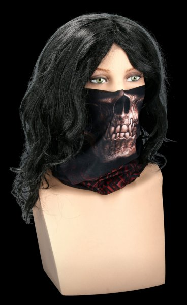 Multifunctional Face Wrap - Goth Skull
