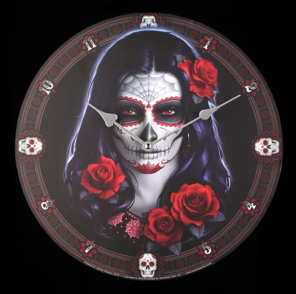 Wanduhr - Day of the Dead - Sugar Skull