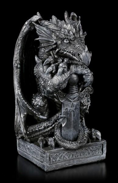 Large Dragon Figurine - Syus with Sword
