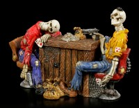 Poker Playing Skeleton Figurines - Marked Cards