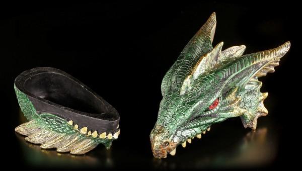 Drachen Schatulle - Gut bewacht - grün