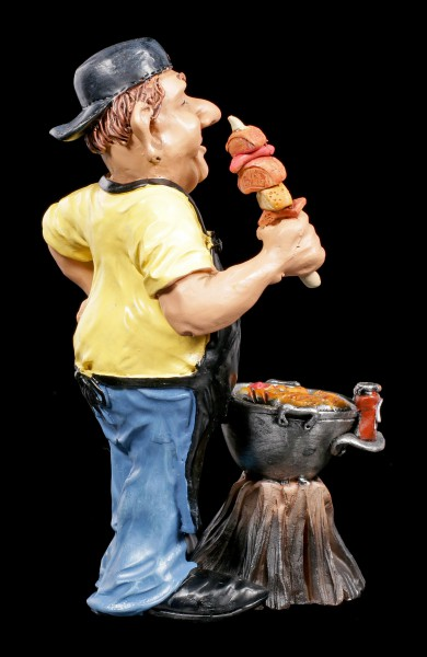BBQ-Master Figurine with Meat and Sausages