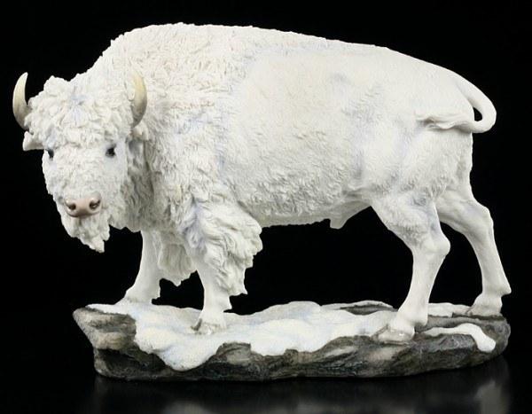 Weisse Bison Figur