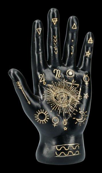 Palmistry Hand - black