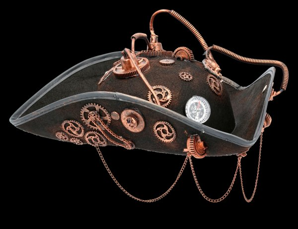 Steampunk Tricorn Hat - Steam Pirate 2
