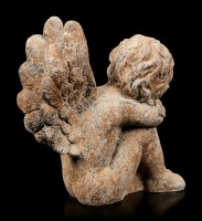 Angel Garden Figurine - Rust look left