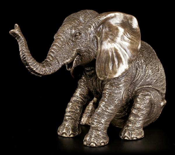 Elefanten Figur - Sitzend bronziert
