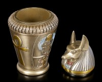 Canopic Jar - Duamutef - Son of Horus - bronzed