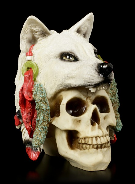 Skull with Wolf Fur - Spirit Hunter - small