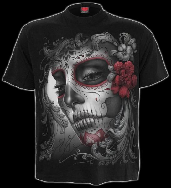 T-Shirt Gothic - Skull Roses