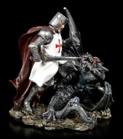 Crusader Knight Figurine - Death of a Dragon
