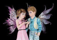 Elfen Figur - Junge und Mädchen - Schau, ein Schmetterling