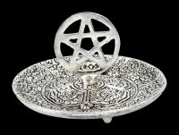 Räucherhalter - Schale mit Pentagramm