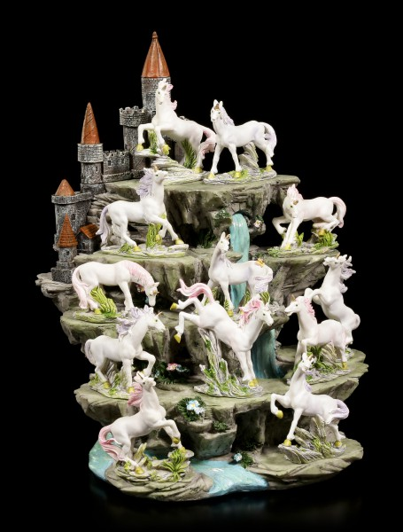 Einhörner Figuren mit Display - 12er Set