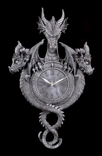 Drachen Wanduhr - Wächter der Zeit