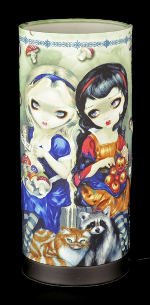 Tischlampe mit Elfe - Alice & Snow White