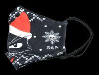 Gesichtsmaske Weihnachts - Katze