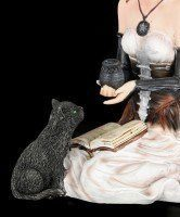Witch Figurine - Jasmina with Cat and Book