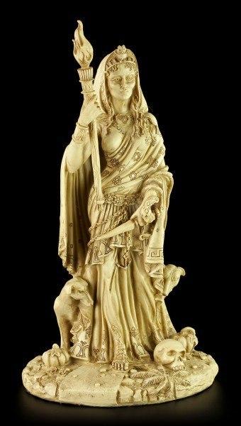 Hekate Figur - Gottheit der Wicca - Weiß