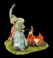 Tea Light Holder - Pixie Goblin Figurine - Barbecue Dinner