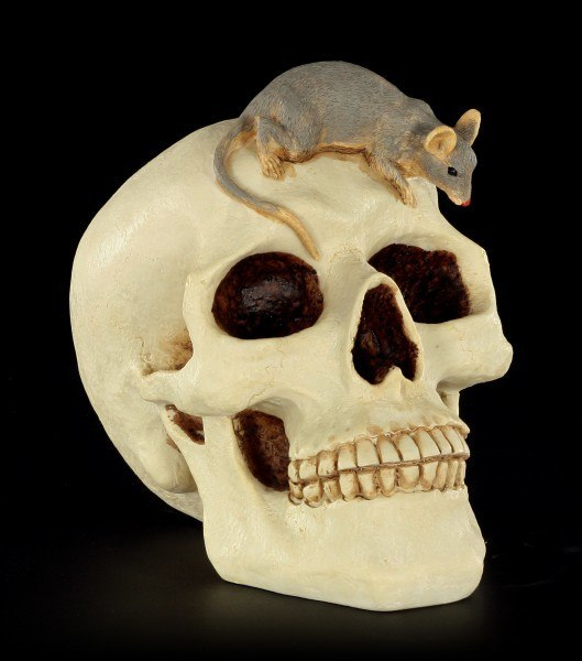 Money Bank - Skull with Mouse