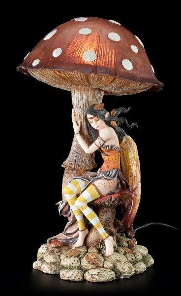 Elfen Nachtlicht mit Pilz - Braun