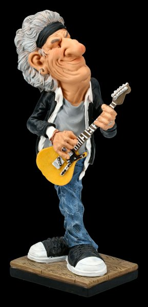Funny Job Figurine - Guitarist with yellow Guitar