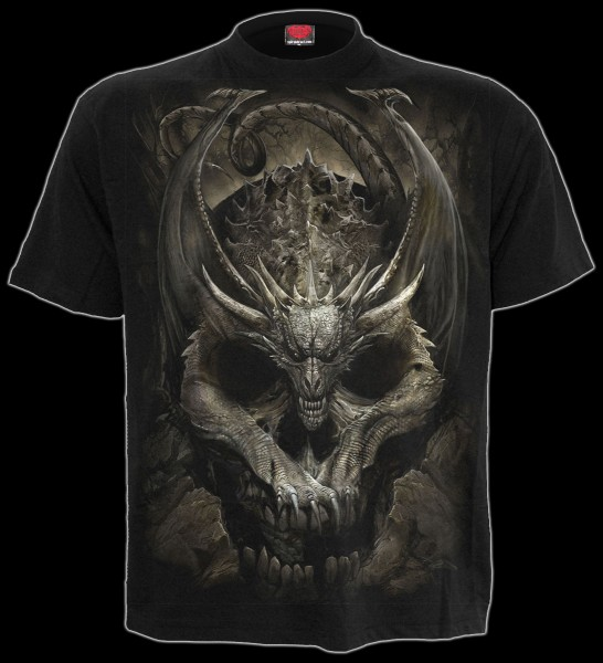 Spiral Drachen T-Shirt - Draco Skull