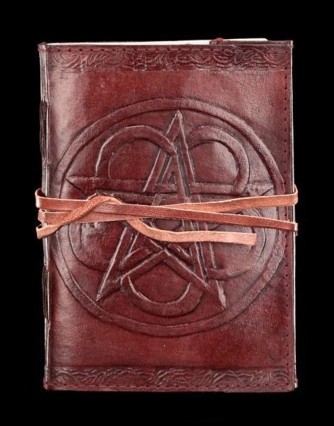 Leder Notizbuch - Pentagramm