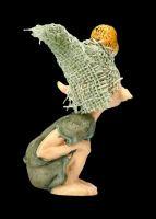 Pixie Kobold Figur - Eule auf dem Kopf
