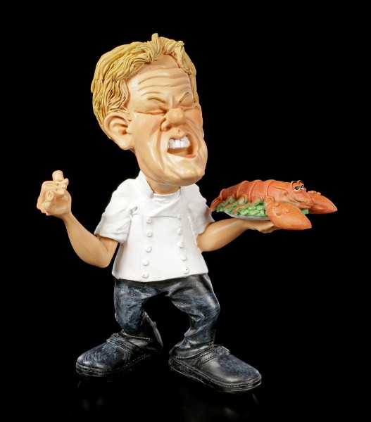 Funny Job Figurine - Head Chef with Lobster