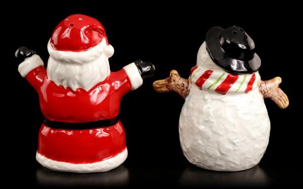 Salz und Pfeffer Streuer - Schneemann & Weihnachtsmann