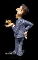 Funny Job Figurine - Businessman with Gold Pig